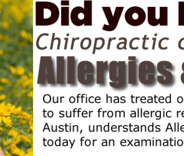 Austin Allergies Chiropractor Chiropractor Reviews