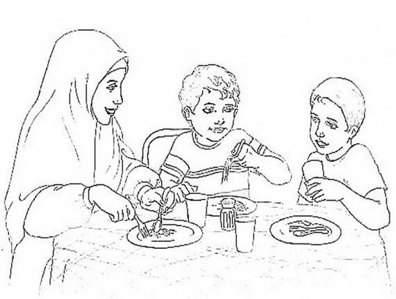 ramadan coloring pages for kids  family holiday/guide