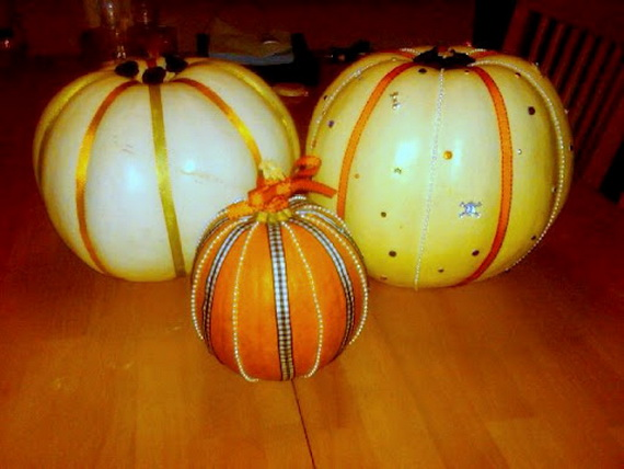 Decorate Pumpkins 30 Fall Ideas With Paint Rhinestones And Lace
