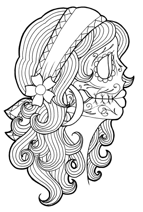 Day Of The Dead Coloring And Craft Activities Family Holiday Net Guide To Family Holidays On The Internet