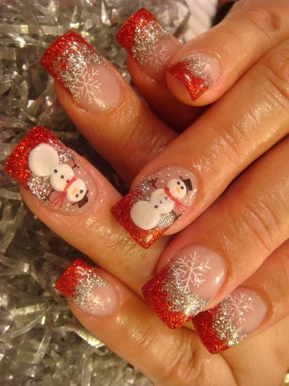 Best Easy Simple Christmas Nail Art Designs Ideas 02