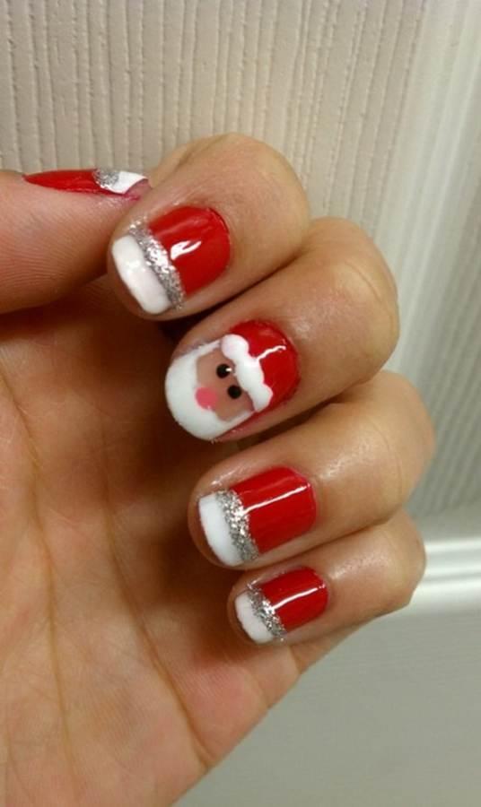 Best Easy Simple Christmas Nail Art Designs Ideas 29
