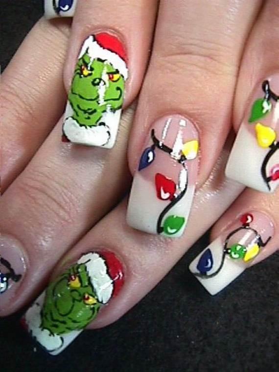 Santa And Rudolph 20 Fantastic Diy Christmas Nail Art Designs That Are Borderline Genius
