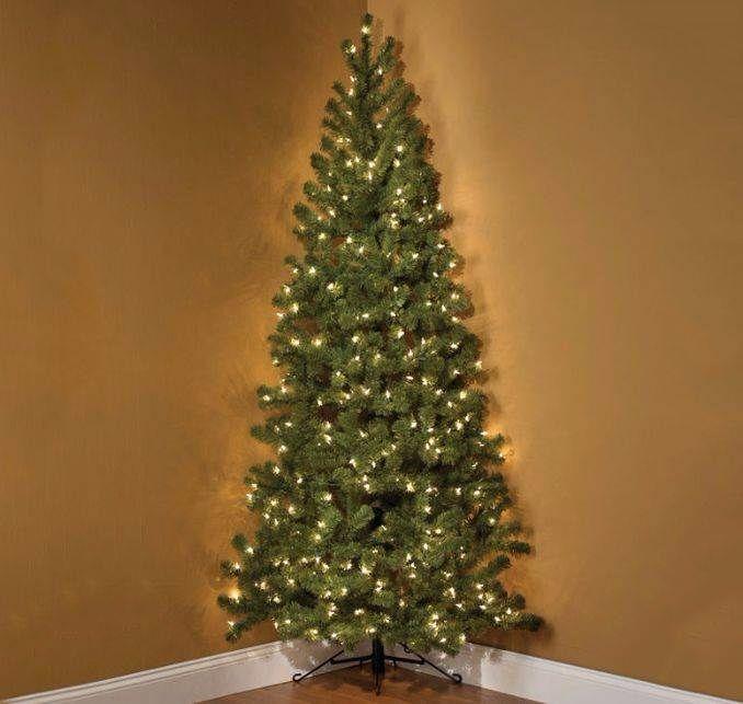 Half Christmas Trees Hang Wall