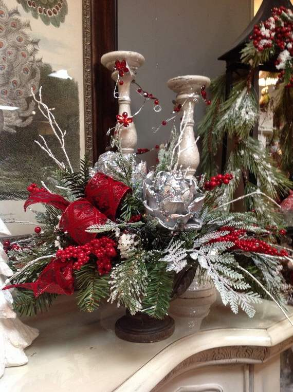 Christmas Floral Topiaries