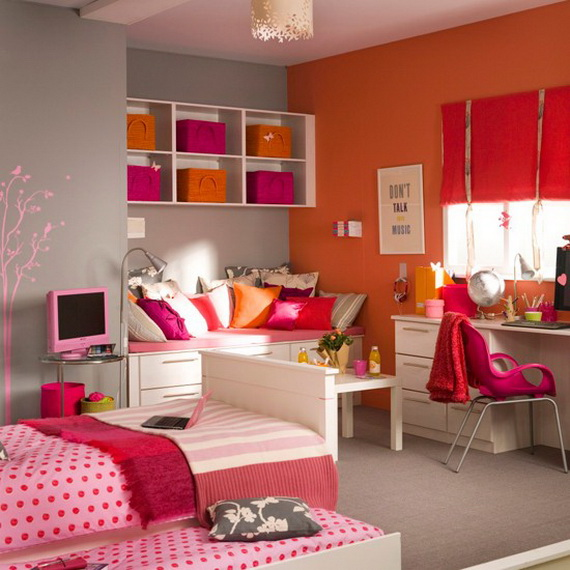 55 Stylish Teen Bedroom Design Ideas | Guide to family ... on Trendy Teenage Room Decor  id=35165