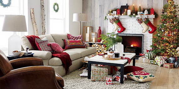 Living Room Dining Room Decorating Ideas Christmas