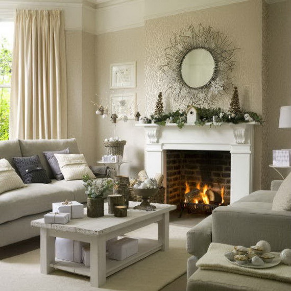 60 Elegant Christmas Country Living Room Decor Ideas ... on Picture Room Decor  id=13413