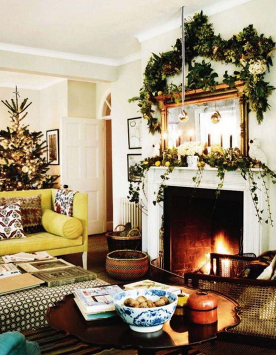 Image Of Country Christmas Decorating Ideas