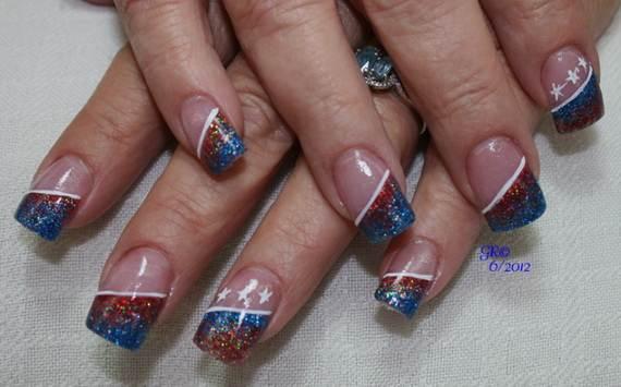 Amazing Patriotic Nail Art Designs Ideas 34