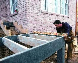 Building a backyard deck