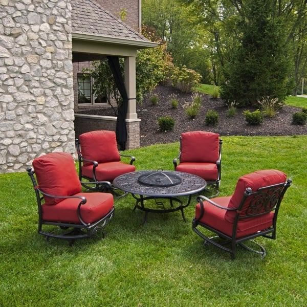 outdoor patio furniture with fire pit St. Augustine - Fire Pit Set