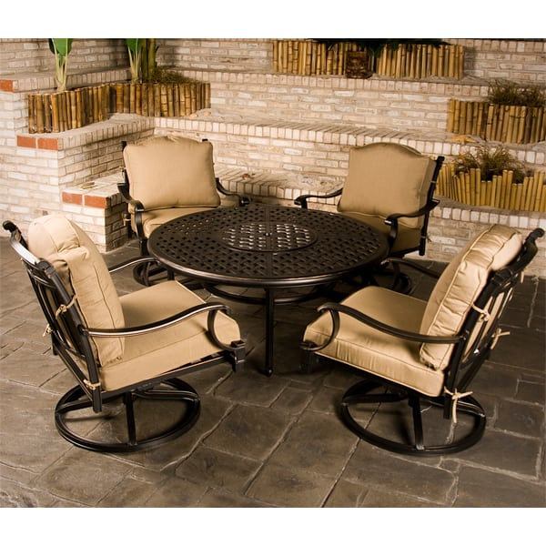 outdoor patio furniture with fire pit Chateau Outdoor Patio Furniture Fire Pit Set