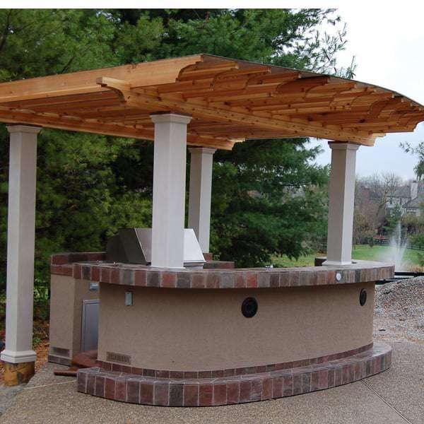 Hoeller Grill Island Project on Backyard Patio Grill Island id=39005