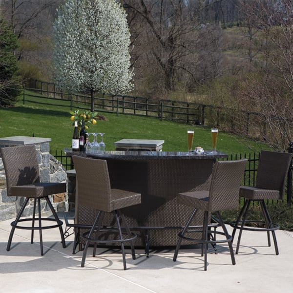 outdoor patio bar sets furniture Vento Outdoor Bar and Stools - Patio Furniture by Alfresco