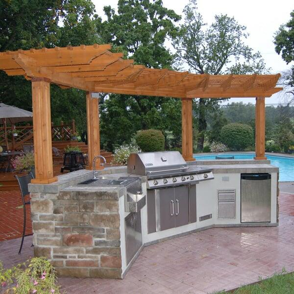 Windhaven Grill Island Project on Backyard Patio Grill Island id=20262
