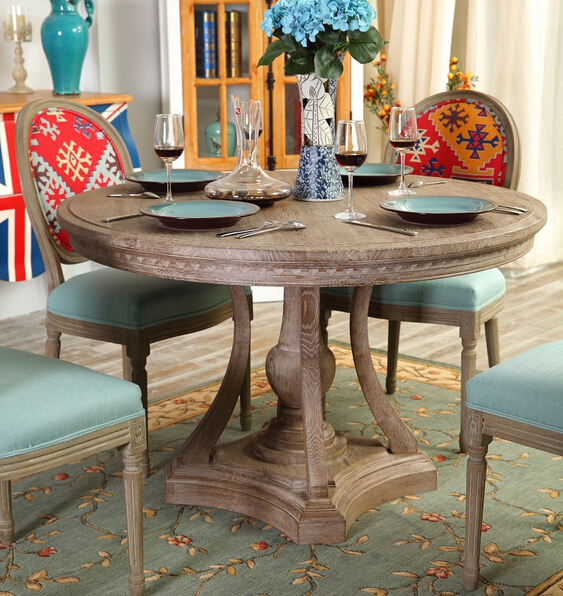 Modern Contemporary Round Wooden Dining Tables Kitchen