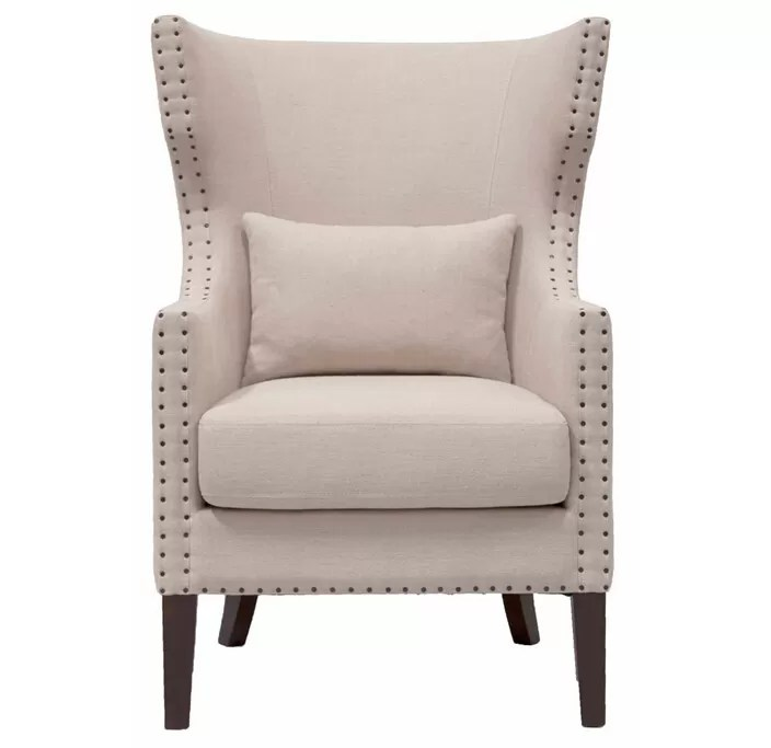 High End Living Room Furniture Fabric Upholstered Nailhead Club Chair Part 48