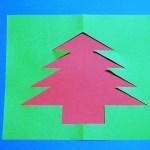 クリスマスのメッセージカードを手作りする簡単な作り方