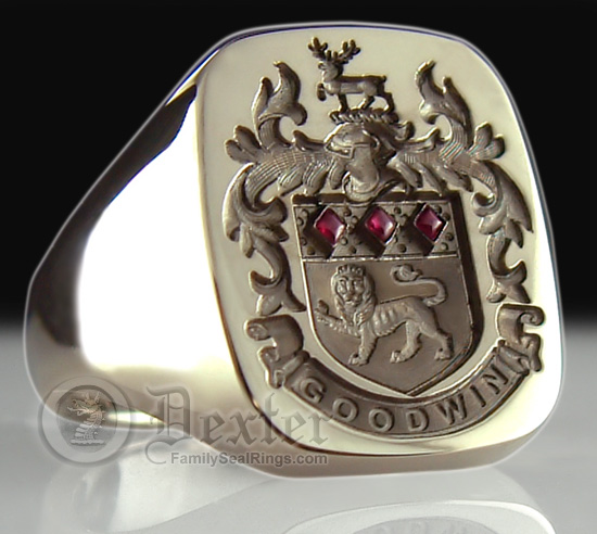 Coat Of Arms Seal Engraved Onto Gold Silver And Gemstone