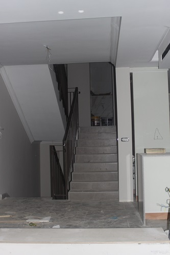 Upper Stairs during manufacture