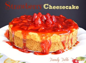 {Fluffy} Strawberry Cheesecake
