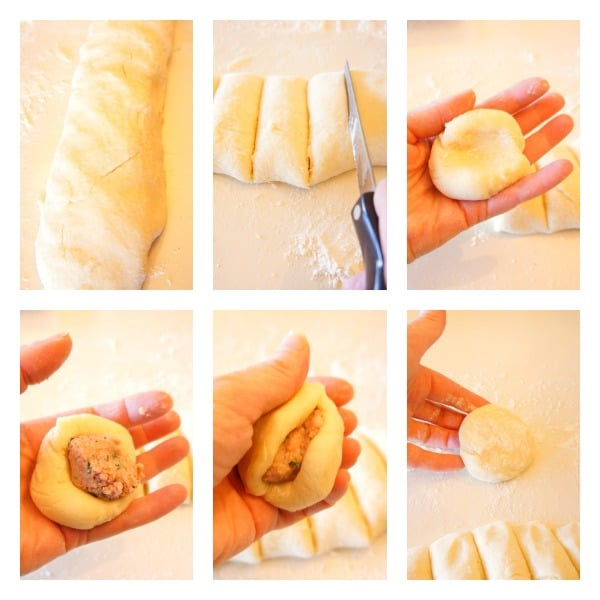 {Kielbasa Filled} Potato Dumplings