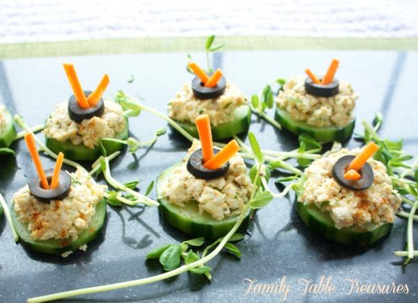Chicken Salad {Cucumber Bites}