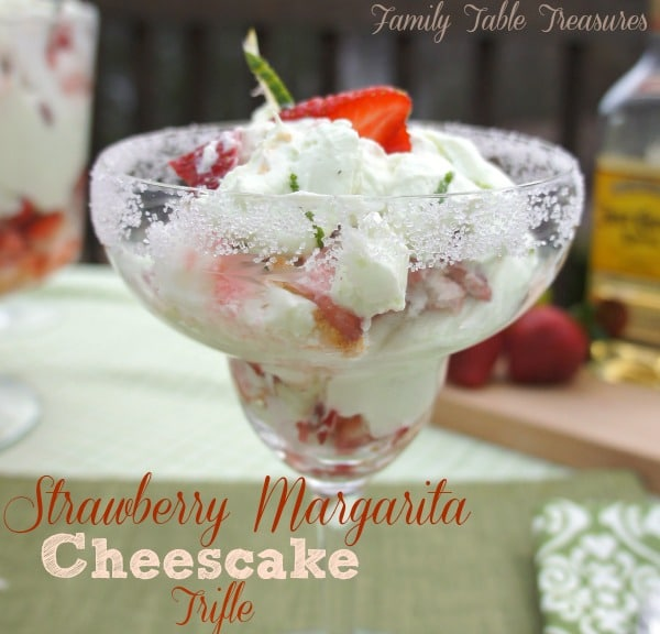 Strawberry Margarita Cheesecake {Trifle}