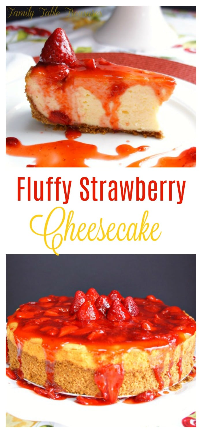 Fluffy Strawberry Cheesecake