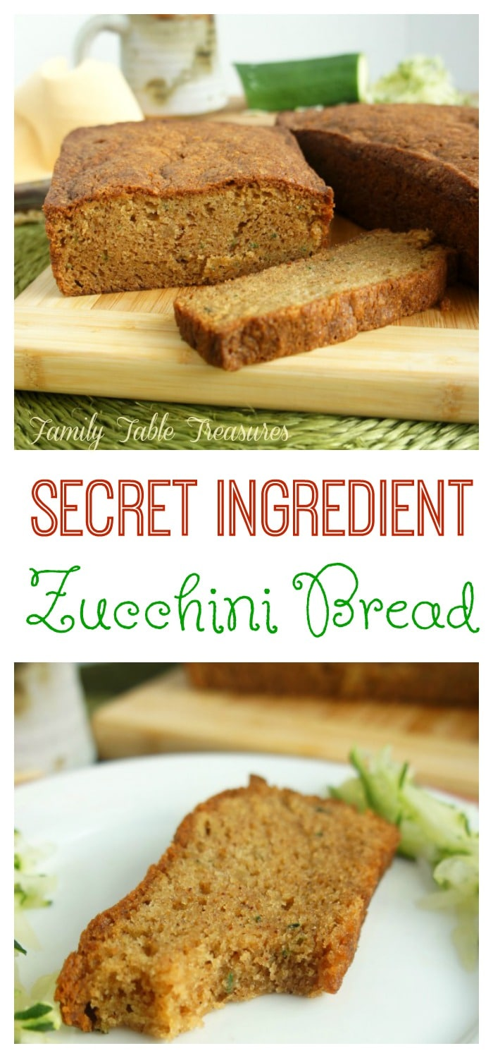 {Secret Ingredient} Zucchini Bread