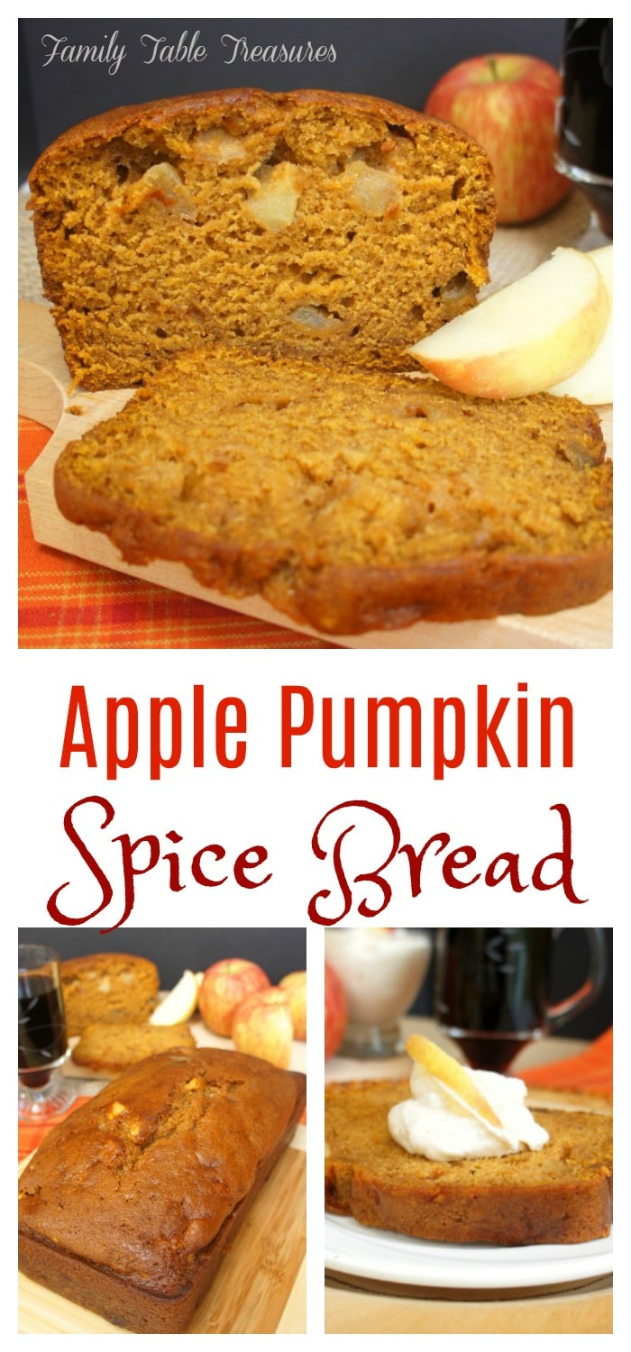 Apple Pumpkin Spice Bread