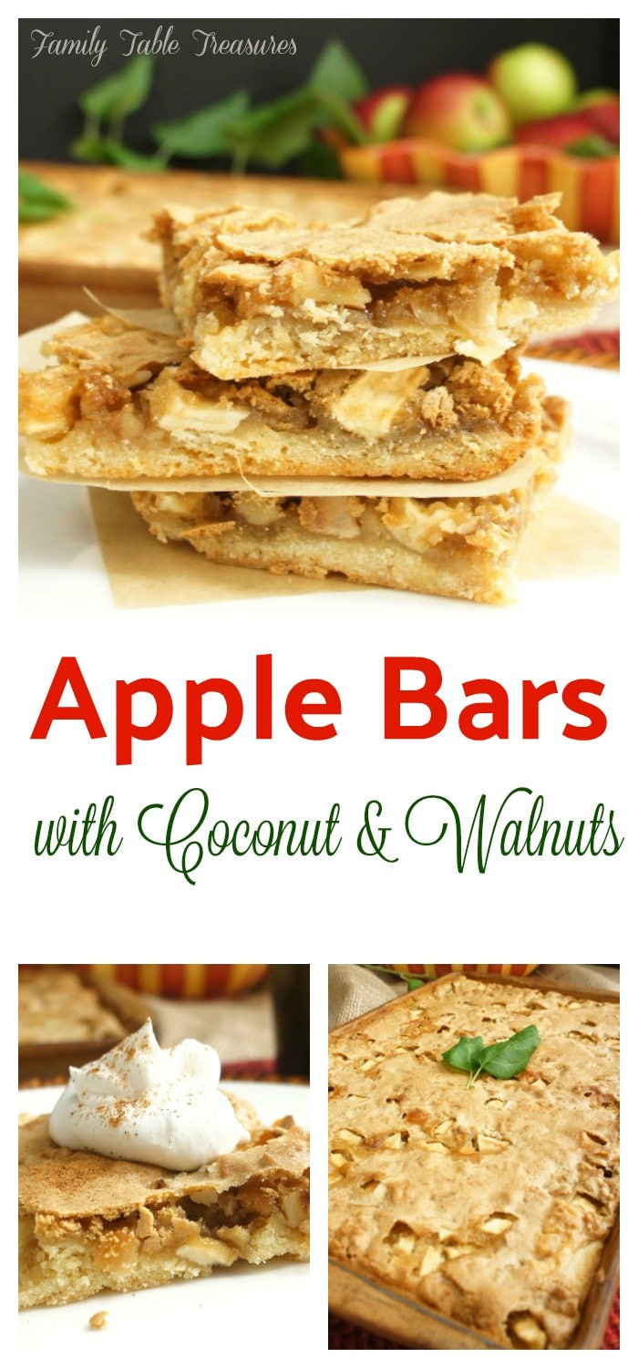 Apple Bars {with Coconut & Walnuts}