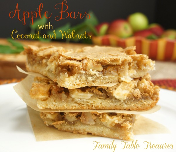Apple Bars {with Coconut and Walnuts}