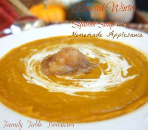 Winter Squash Soup {with Homemade Applesauce}
