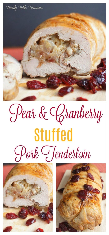 {Pear and Cranberry} Stuffed Pork Tenderloin Recipe
