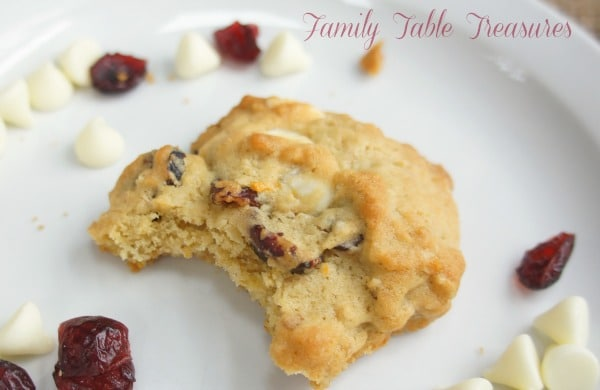 Cranberry Oatmeal Cookies {with Walnuts & White Chocolate Chips}