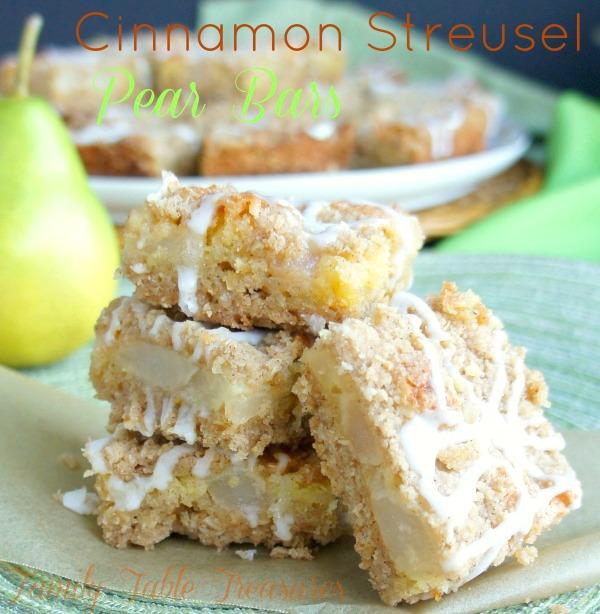 Cinnamon Streusel Pear Bars