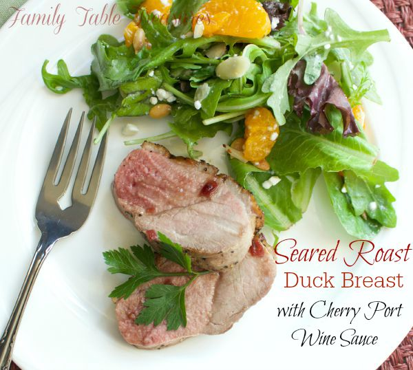 Seared Roast Duck Breast {with Cherry Port Wine Sauce}