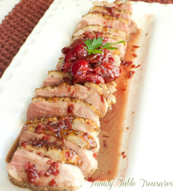 Seared Roast Duck Breast {with Cherry Port Wine Sauce ...