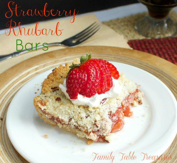 Strawberry Rhubarb Bars