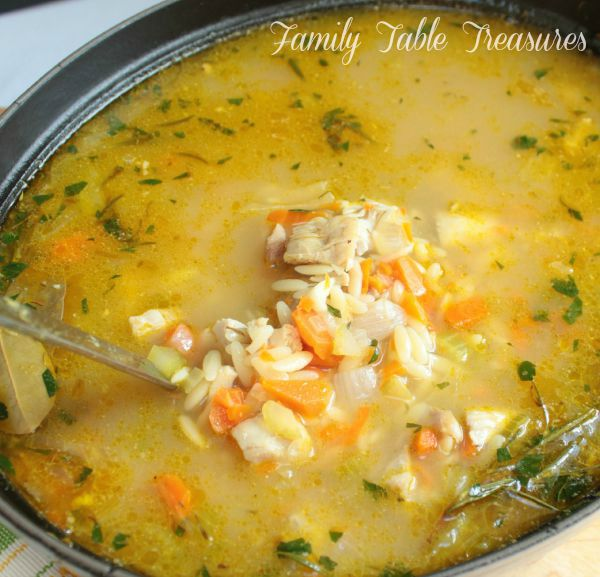 Lemon Chicken Orzo Soup