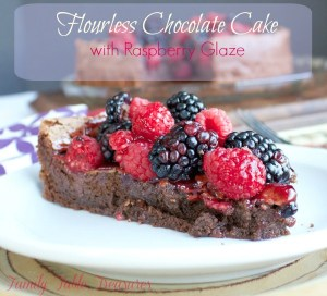 Flourless Chocolate Cake {with Raspberry Glaze}