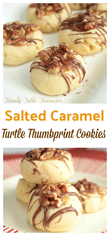 Turtle Thumbprint Cookies