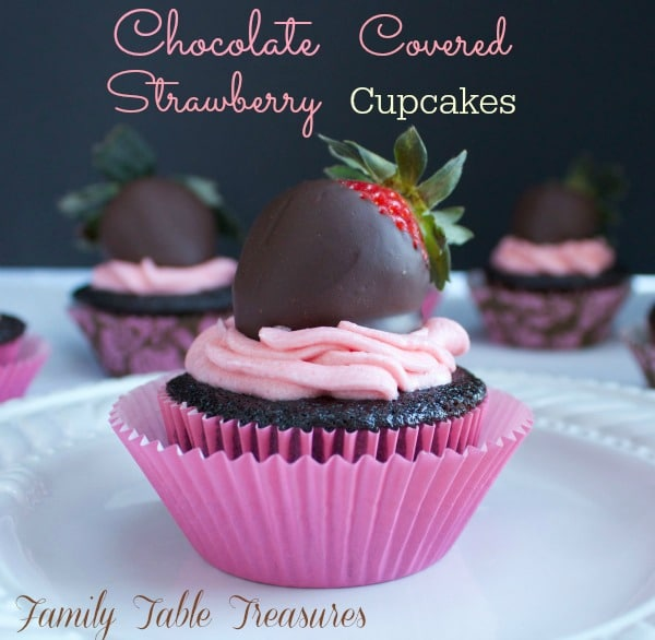 Chocolate Covered Strawberry Cupcakes {Dairy Free}