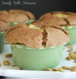 Chocolate Pistachio Souffle