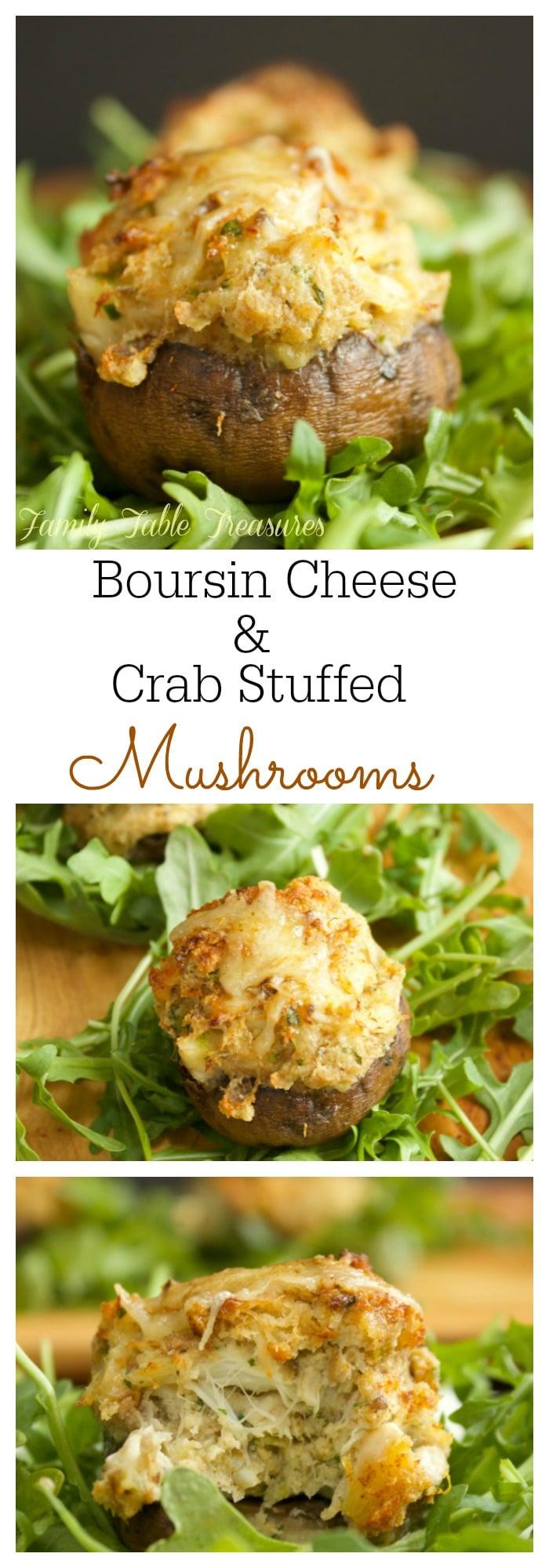 Boursin Cheese & Crab Stuffed Mushrooms - Family Table ...