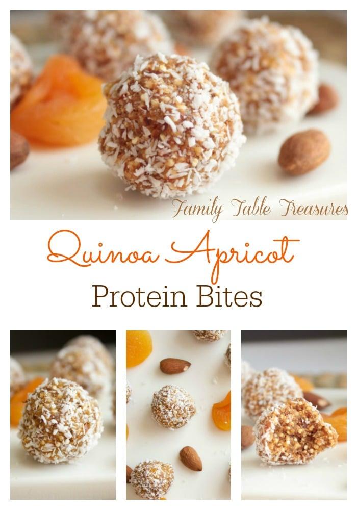 Quinoa Apricot Protein Bites
