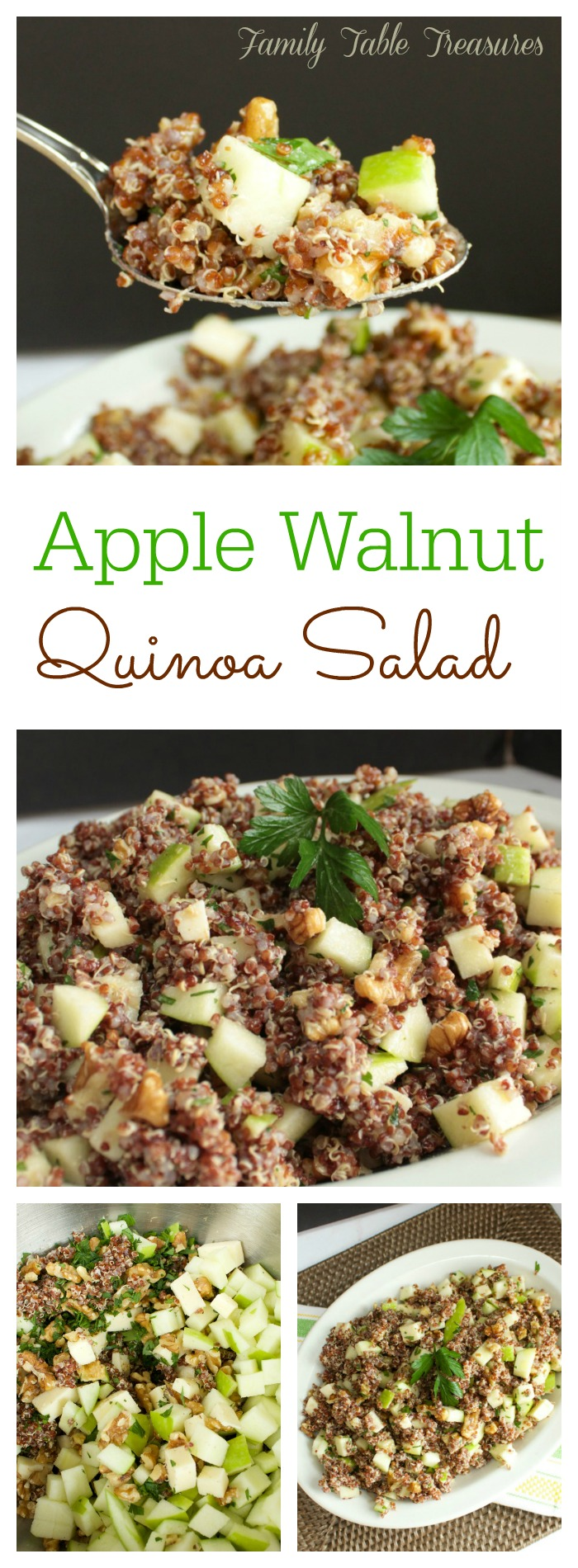 Apple Walnut Quinoa Salad