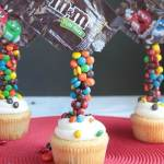 Gravity Defying M&M Cupcakes